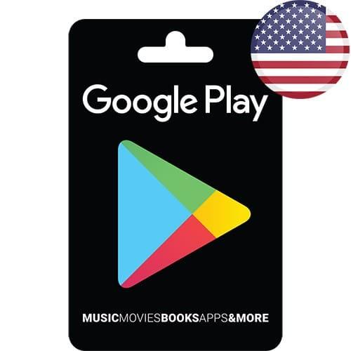 گیفت کارت گوگل پلی آمریکا - USD
