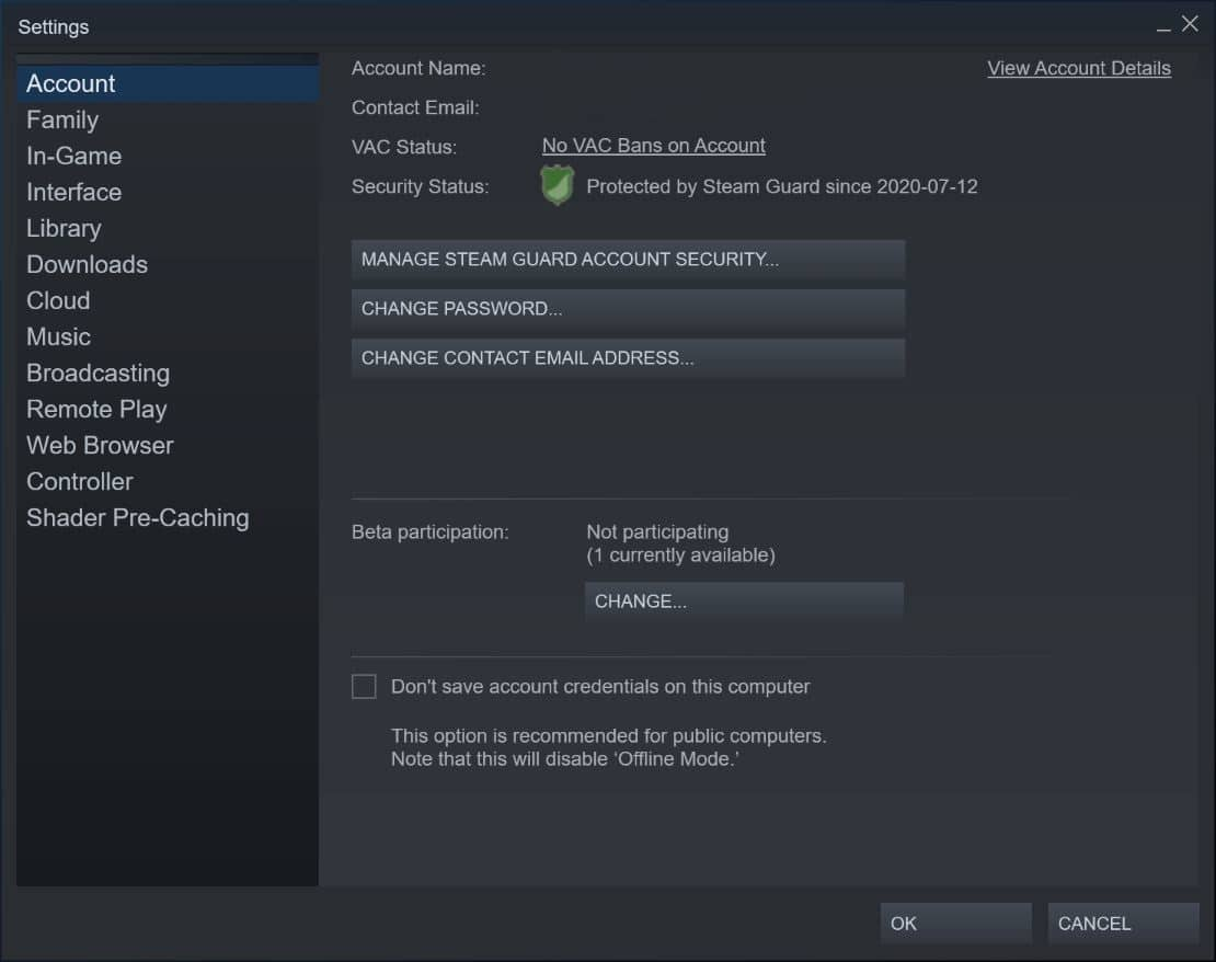 manage steam guard account security استیم